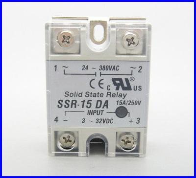 โซลิดสเตตรีเลย์ 15A solid state relay SSR-15DA 15A actually 3-32V DC TO 24-380V AC