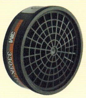 ตลับไส้กรองไอระเหยสารตัวทำละลายและไอกรด 3M-3303K-100