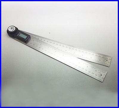 ไม้บรรทัดวัดมุมดิจิตอล เครื่องวัดองศาดิจิตอล มิเตอร์วัดมุมดิจิตอล 2in1 Digital Angle Finder Meter Protractor Ruler 360 องศา 600mm(300mmx2)