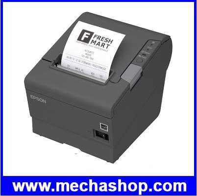 เครื่องพิมพ์ใบเสร็จ เครื่องพิมพ์สลิปEPSON ใช้กระดาษความร้อน 80MM thermal slip Printer ตัดกระดาษอัตโนมัติ EPSON Receipt printer TM-T88V