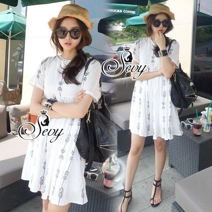 Arrow Strips Dolly Mini Dress