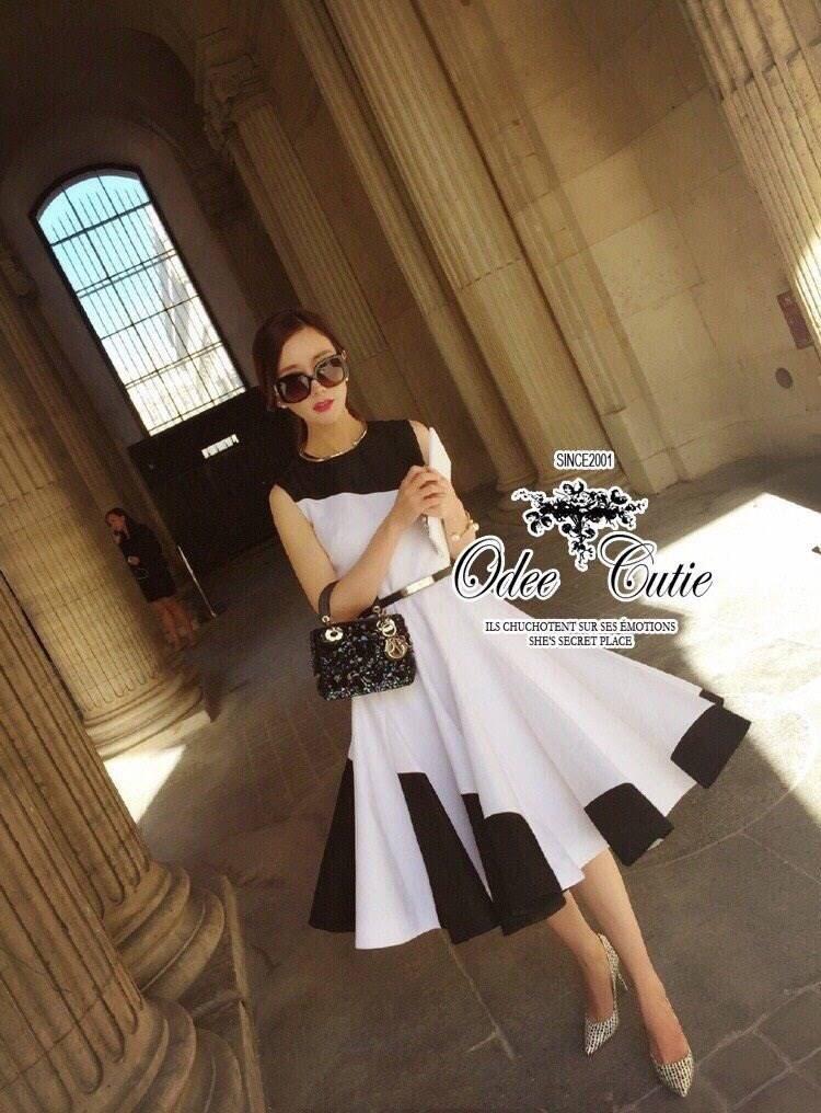 Casual black&white dress