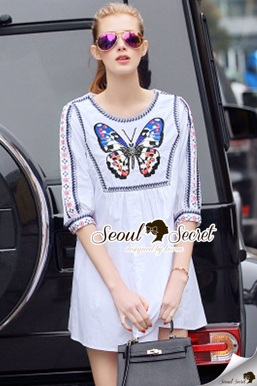 ButterFly Bohe Style Long Blouse