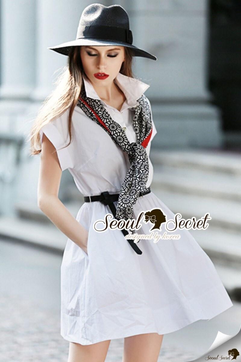 Scarfy Whity A Shape Dress