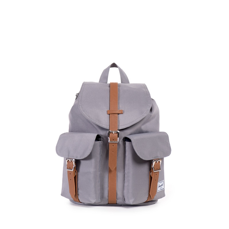 Herschel Dawson Backpack | Womens - Grey/Tan Synthetic Leather