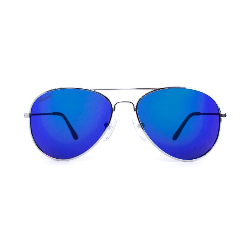แว่น Knockaround Mile Highs Sunglasses - Silver / Polarized Moonshine