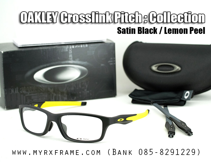 OAKLEY CROSSLINK PITCH 55mm (SATIN BLACK / LEMON PEEL)