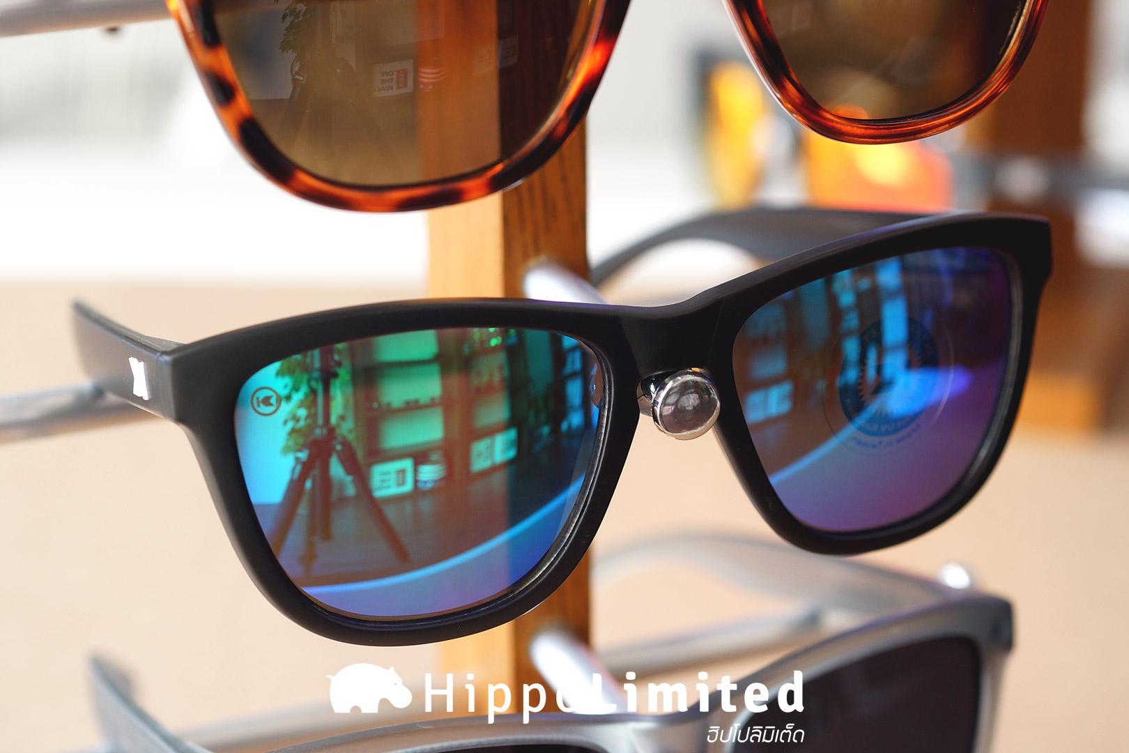 แว่น Knockaround Premiums Sunglasses - Black / Green Moonshine
