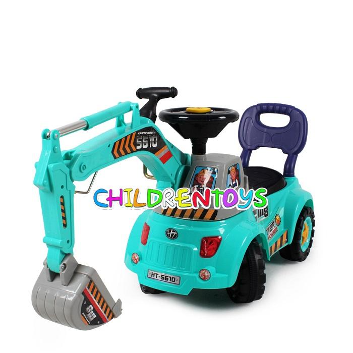 รถขาไถ ตักดิน พร้อมอุปกรณ์ สำหรับเด็กเล่น
