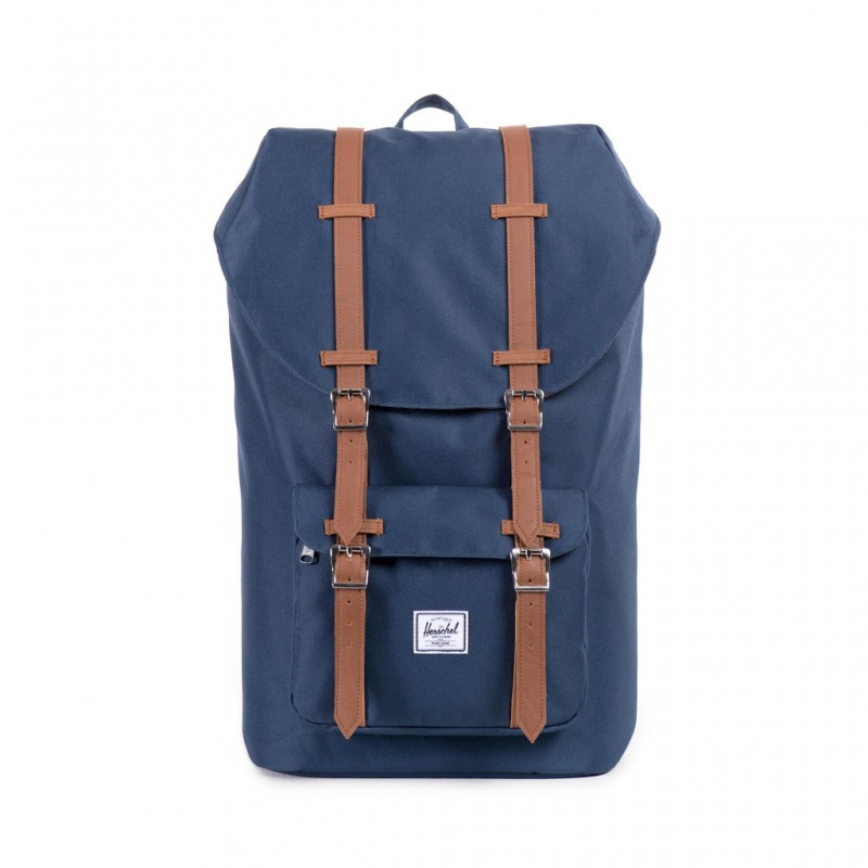 Herschel Little America - Navy/Tan Synthetic Leather