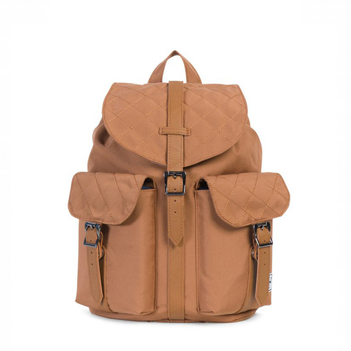 Herschel Dawson Backpack | XS - Caramel Quilted / Caramel Synthetic Leather