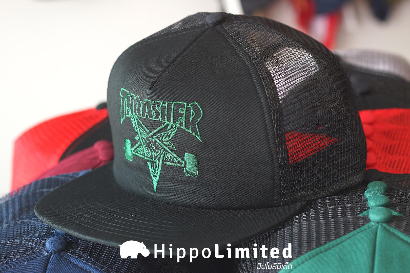 หมวก Thrasher Skategoat Mesh Cap - Black