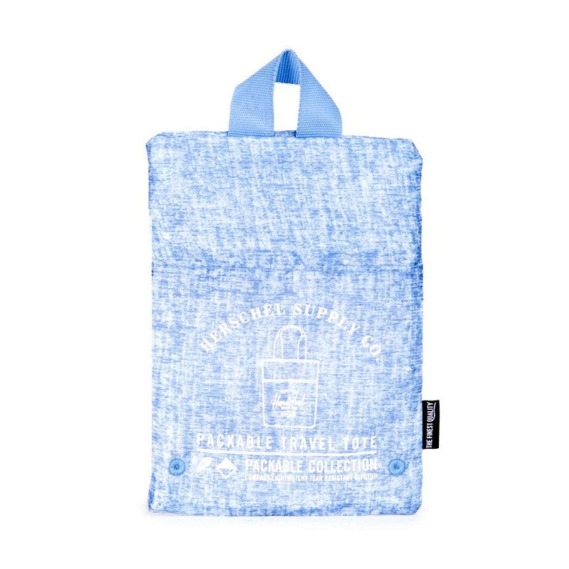 Herschel Packable Tote - Chambray Crosshatch