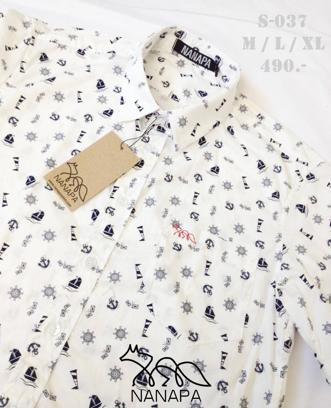 เสื้อเชิ้ตแขนสั้น ชาย NANAPA Shirts S-037
