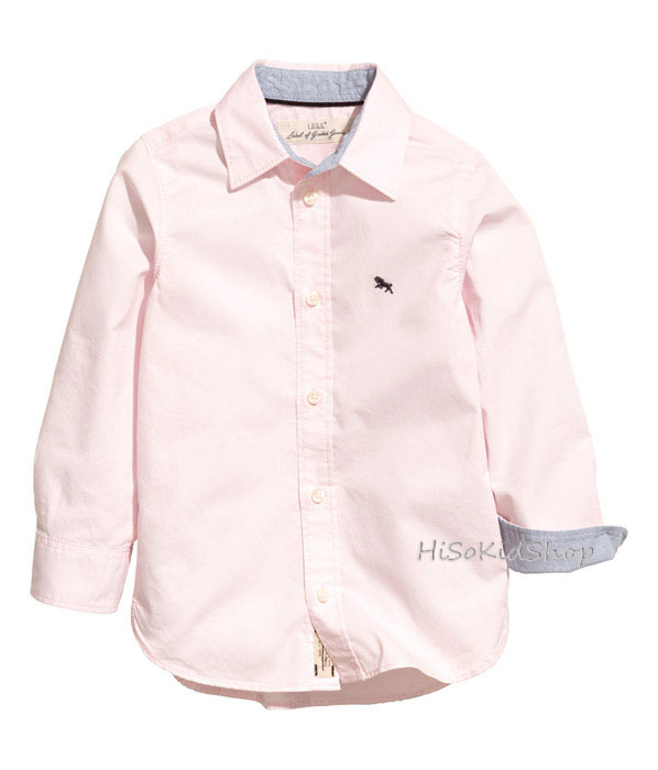 1267 H&M Cotton Shirt - Pink ขนาด 10-11 ปี