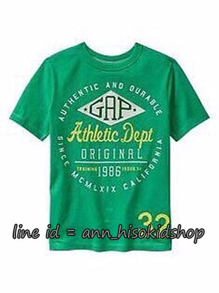 1856 Gap Kids Graphic Short Sleeve - Green ขนาด 8-9 ปี