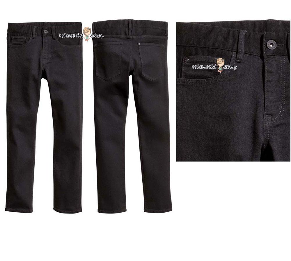 1902 H&M Black Jeans ปรับลดเอวไม่ได้ค่ะ งานสวย แท้ 100% ขนาด 13-14 ปี