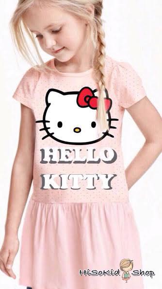 1011 H&M Hello Kitty Dress - Pink sz 2-4,4-6,6-8,8-10,10-12 ปี