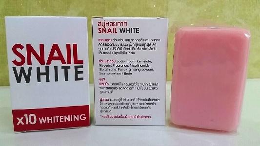 Snail White x10 Whitening (70 g.) สเนล ไวท์ สบู่หอยทาก ฟอกแล้วใส ไวท์เนียนเวอร์