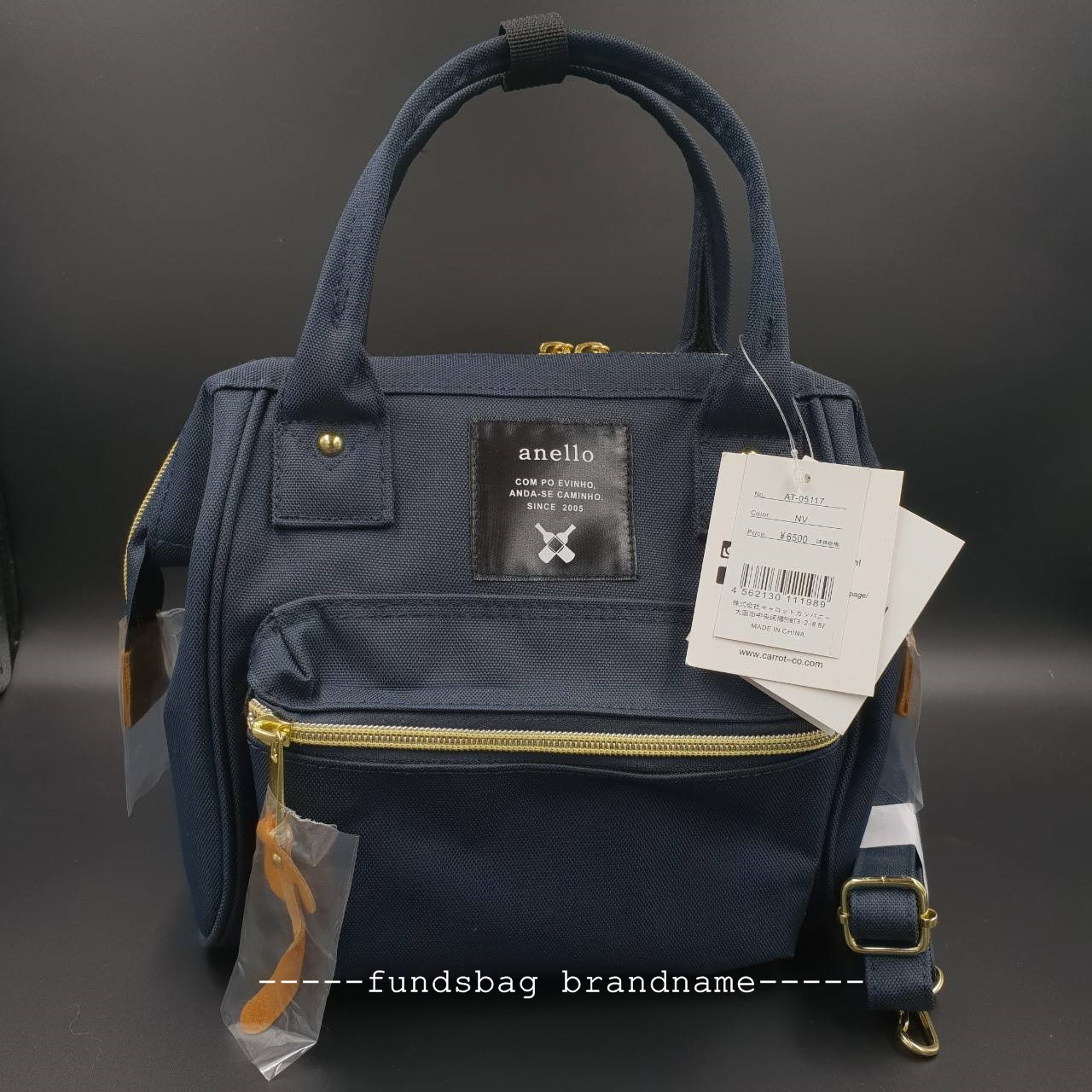 Anello 2way bag -navy-