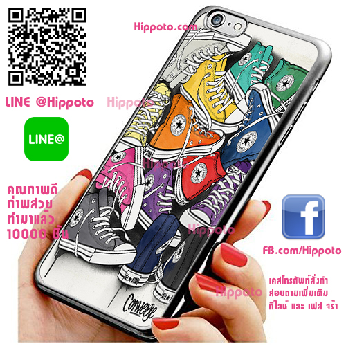 เคส ไอโฟน 6 / เคส ไอโฟน 6s โลโก้ Converse เท่ๆ ภาพอาร์ท เคสสวย เคสโทรศัพท์ #1048