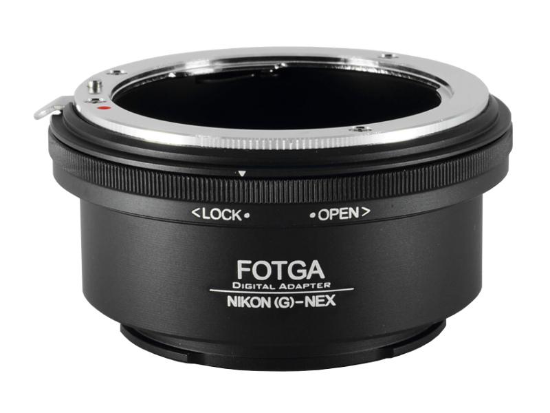 Nikon(G)-NEX Mount Adapter Fotga ปรับรูรับแสงได้ Nikon G AI AIs F(non-AI) AF Lens to Sony Alpha NEX E Mount Camera