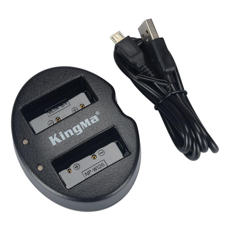 Kingma Fujifilm NP-W126 NP-W126S USB Dual Battery Charger แท่นชาร์จแบ็ตเตอรี่ ฟูจิฟิล์ม