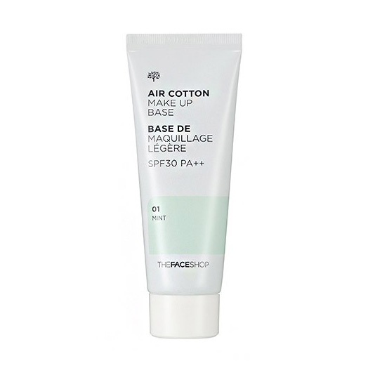TheFaceShop Air Cotton Make Up Base #01 Mint