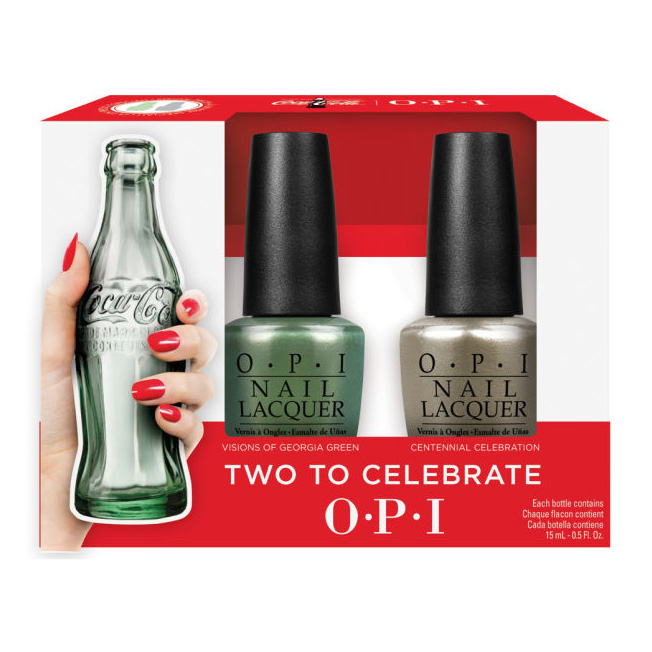O.P.I Nail Lacquer #Two to Celebrate Coca Cola Set