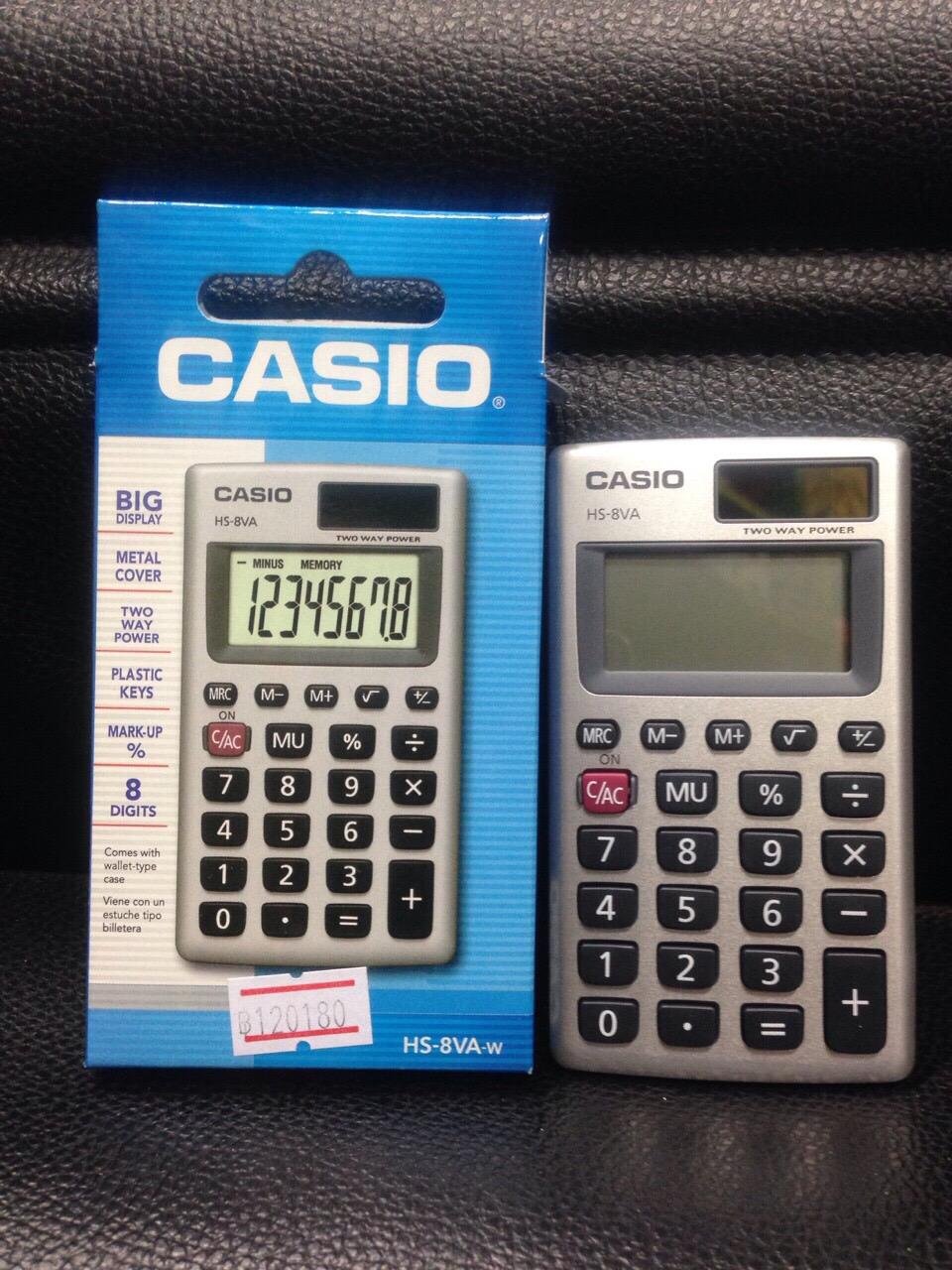 เครื่องคิดเลขพกพา Casio แท้ รุ่น HS-8VA