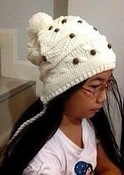 หมวกทอไหมพรมขนกระต่าย