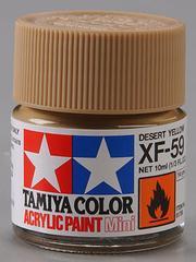 81759 acrylic mini (flat) xf-59 desert yellow