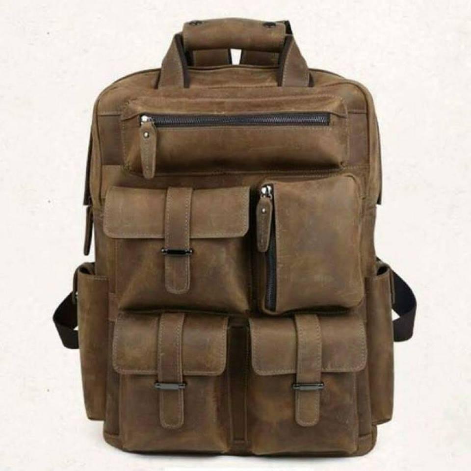 กระเป๋าเดินทาง กระเป๋าเป้ กระเป๋าถือ ผลิตจากหนังวัวแท้ (หนังนูบัค) เหมาะสำหรับท่านที่ชอบเดินทาง หรือทำกิจกรรมต่างๆหลายวัน