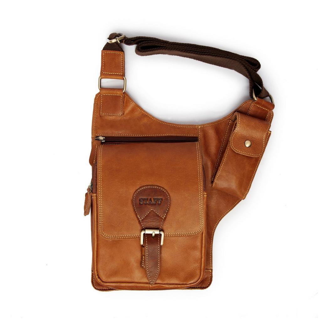 กระเป๋าซองปืนหนังแท้ สะพายไหล่ สามารถใส่ปืนพกสั้นได้ทุกชนิด สำหรับนายพราน ทหาร หรือตำรวจ