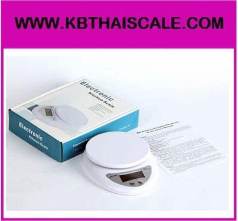 ตาชั่งดิจิตอล เครื่องชั่งดิจิตอล เครื่องชั่งอาหาร 5Kg ความละเอียด 1g Digital Mini Kitchen Scale รุ่น WH-B05