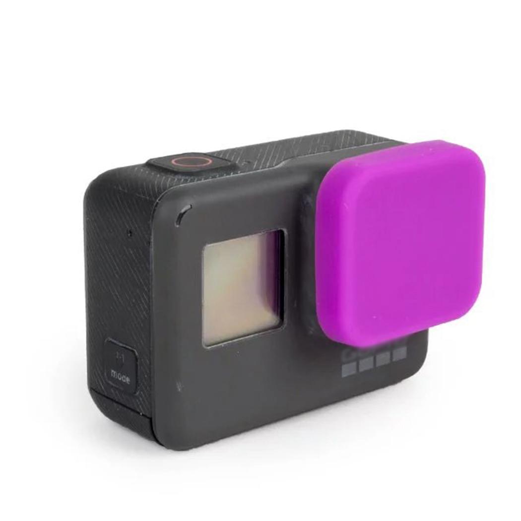 ฝาปิดเลนส์ ซิลิโคน GoPro Hero 5 6 Purple ม่วง