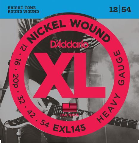 D'Addario EXL 145 Heavy Plain 3rd 12-54