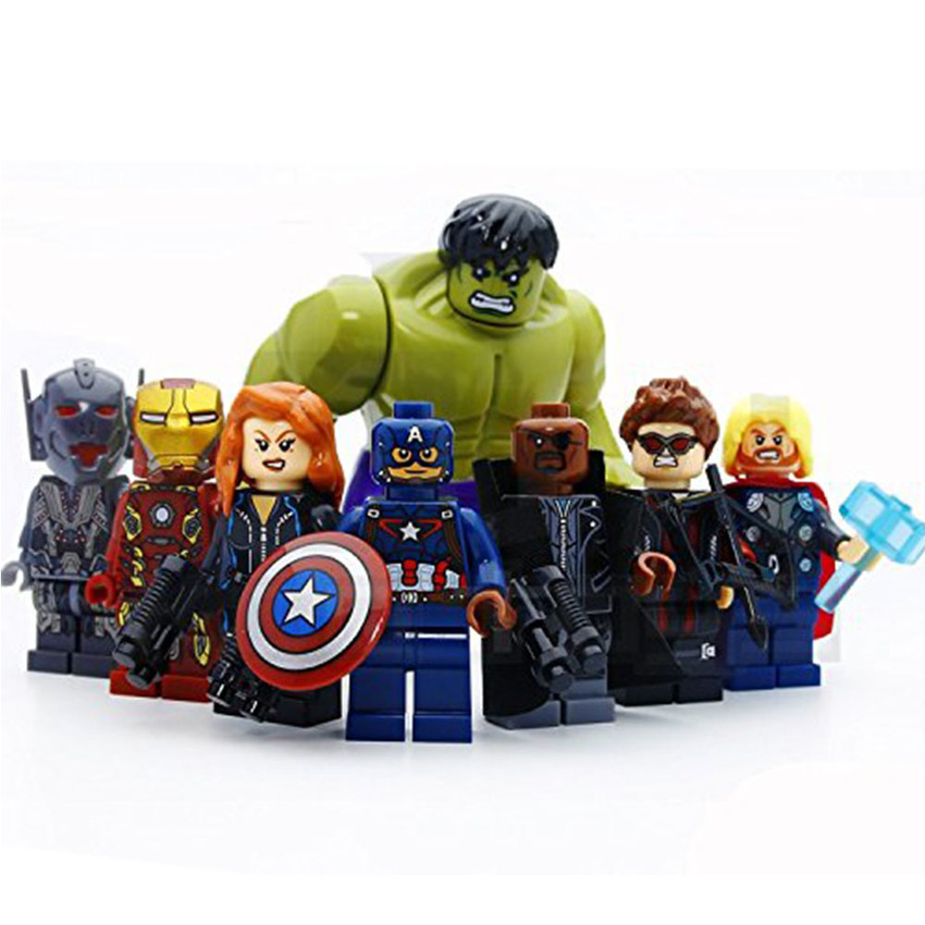 8 pcs/set Marvel &DC Avengers the Captain America
