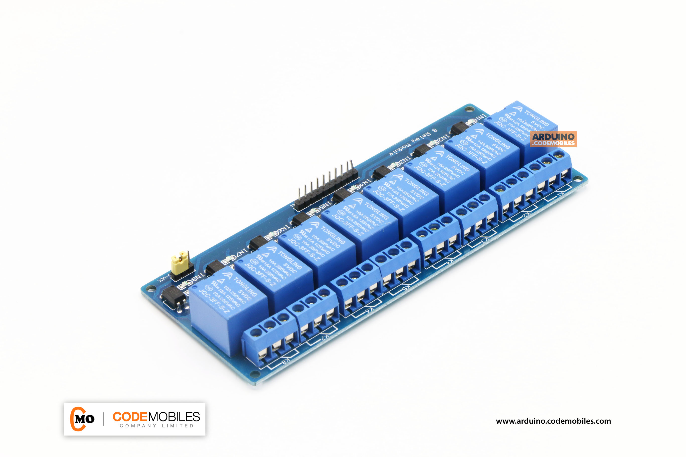 8 Relay Module With Opto Isolation Supports 5V AVR / 51 / PIC Microcontroller PLC Relay