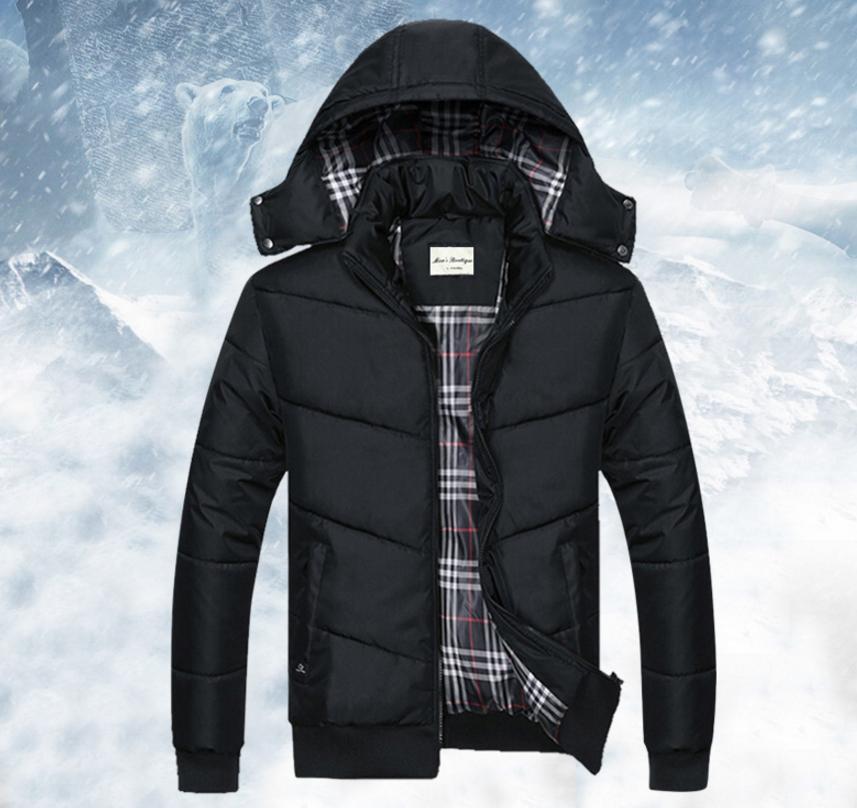 เสื้อกันหนาวคุณภาพดี High quality men's winter wear jacket (สีดำ)