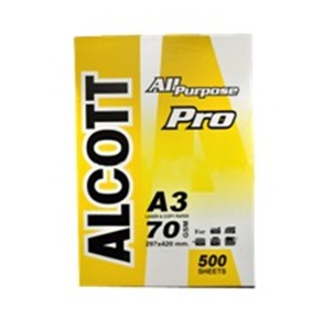 กระดาษถ่ายเอกสาร ALCOTT A3 70g