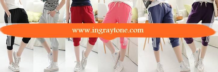 หลากสี!!กางเกงผ้าฝ้ายผู้หญิงขาสั้น ขาจั๊ม เอวรูด ออกกำลังกาย ฟิตเนส แต่งข้างแฟชั่น สี ดำ น้ำเงิน เทาอ่อน แดง เทาแถบเหลือง ม่วง ชมพู No.26-35