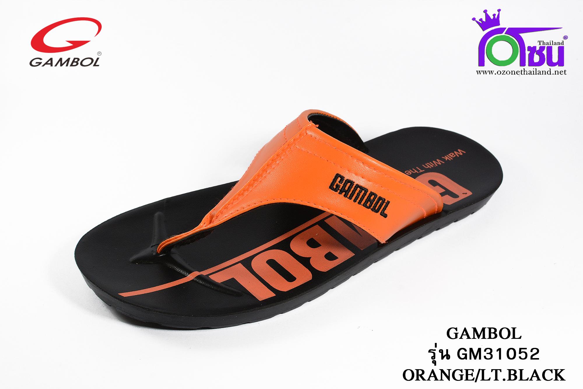 รองเท้าแตะGambol PU แกมโบล พียู รหัส GM31052 สีส้มดำ เบอร์ 39-43