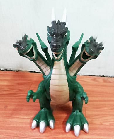 มังกร 3 หัว สีเขียว (Dinosour World) เดินได้ มีเสียง มีไฟ (สินค้ามาใหม่)