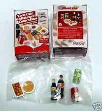 COCA COLA Minitaure Convenience Store DRINK FOOD set 5