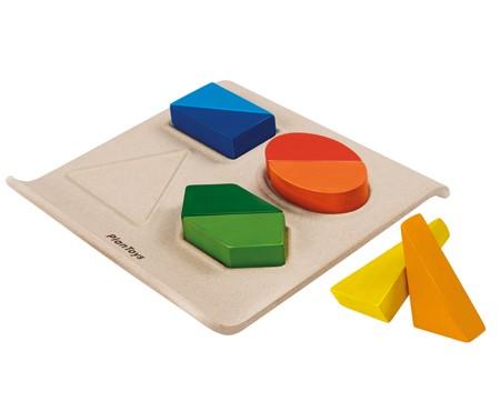 ของเล่นไม้ ของเล่นเด็ก ของเล่นเสริมพัฒนาการ Twist & Shape ถาดรูปทรงเปลี่ยนรูป (ส่งฟรี)