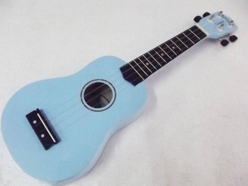 อูคูเลเล่ Ukulele Kokoma สีฟ้า ไม้ Basswood สาย German White