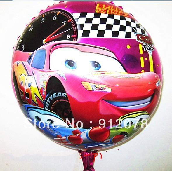 ลูกโป่งฟลอย์ลายการ์ตูนคาร์ ทรงกลม - Cars Cartoon Round shape Foil Balloon / Item No. TL-A032