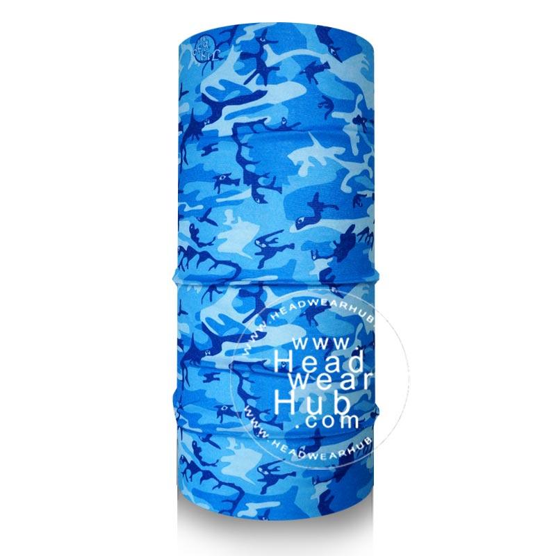 ผ้าบัฟ ผ้าโพกหัว TB728 พรางทหารสีฟ้า