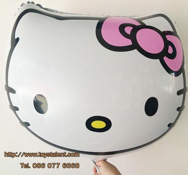 ลูกโป่งฟลอย์ หน้า Hello Kitty ไซส์ใหญ่56 X 56 cm - Hello Kitty Face size 56 X 56 cm Foil Balloon / TL-A092
